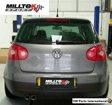 vw golf mk5 gt 2 0 tdi 140ps milltek large bore downpipe exhaust