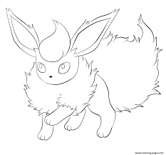 136 flareon pokemon coloring pages printable