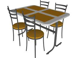 Led Bistro Table Table And Chairs Snack Bar 3d Model Cad Browser Throughout