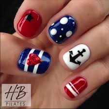 nautical 4th of july nails nail art pinterest nail nail