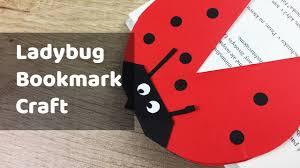 ladybug bookmark simple craft for kids ava craft ideas pinterest