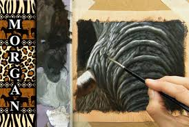 how to paint an elephant skin wrinkles painting tutorial jason morgan sd painting you