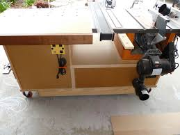 how to build a table saw workstation phil s tablesaw work station the wood whisperer