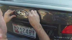 subaru outback decals subaru emblem removal and install youtube