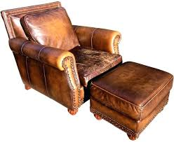club chair and ottoman distressed leather club chair ottoman