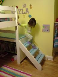 Ana White Build A Camp Loft Bed With Stair Junior Height Free by Ana White Camp Loft Bed With Added Book Shelf And Curtain Diy
