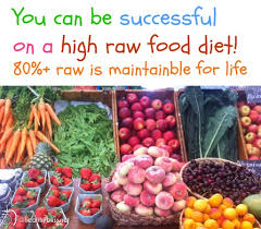 do you need to eat 100 raw food for success how much raw food is