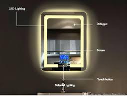 Bathroom Led Mirror Light Bathroom Mirror With Lights Jamiltmcginnis Co