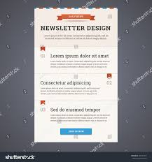 newsletter template design sign button vector stock vector