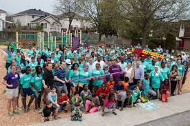 foresters kaboom and volunteers bring families together with new