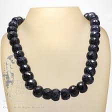 sapphire bead necklace images Sapphire faceted bead necklace jpg