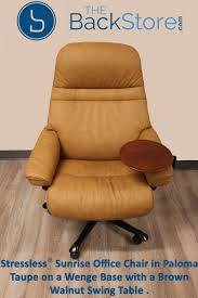 swing table for recliner stressless sunrise office chair in paloma taupe leather on a wenge
