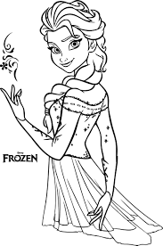 nice beautiful elsa coloring pages wecoloringpage elsa