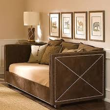 Daybed For Boys Derbyshire Daybed In Brown Suede And Luxury Kid Furnishings