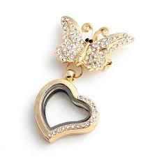 aliexpress buy new arrival 10pcs upscale jewelry 10pcs lot new arrival butterfly brooch rhinestone floating