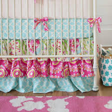 Girl Nursery Bedding Set by Kumari Garden 3 Piece Crib Bedding Set Carousel Designs