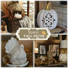 Rustic Fall Decor Dining Delight Lodge Style Fall Display