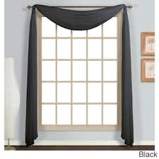 Black Sheer Curtains Black Sheer Curtains For Less Overstock