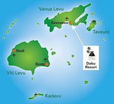 fiji resort map savusavu resort accomodation daku resort