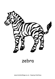 zebra colouring 3