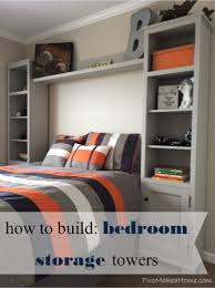 build a bed headboard storage towers diy project the homestead