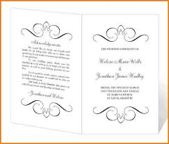 wedding program templates free wedding program templates authorization letter pdf
