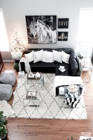 Black And White Living Room Decor Family Room Decor Ideas Setting For Four