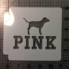 pink dog stencil