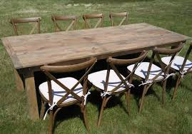 table and chair rentals chicago driftwood farm table rectangular egpres