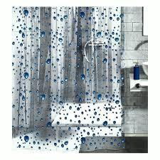 Paisley Shower Curtain Blue by Amazon Com Peva Shower Curtain Liner Clear With Dark Blue