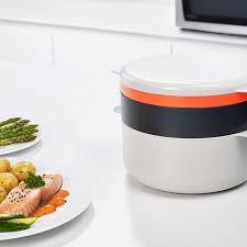 joseph cuisine design microwave cooking set m cuisine joseph joseph white on
