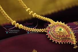 nl2875 beaded jewellery temple kempu south indian traditional gold