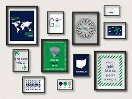 Navy And Green Nursery Decor Travel Gallery Wall Travel Nursery Decor Travel Prints
