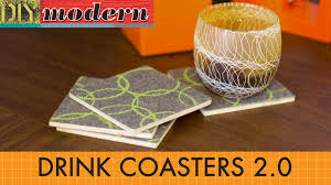 how to make drink coasters 2 0 youtube