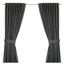 Ikea White Curtains Inspiration Inspiring Ingert With Tiebacks Pair Ikea Of Curtain Holdbacks