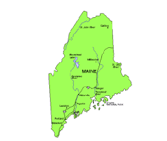 maine map with cities maine us state powerpoint map highways waterways capital and