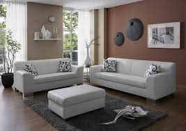 sofa garnitur 3 teilig dreams4home polstergarnitur sol weiß kunstleder polstermöbel