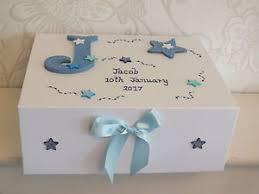 personalised keepsake box beautiful medium boys personalised memory box baby birth gift