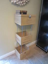 wine crate shelves diy inspired