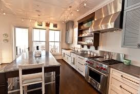 Kitchen With Track Lighting by Kitchen Ceiling Lighting Ideas Kitchen Beach Style With Tongue And