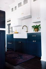 blue bottom and white top kitchen cabinets contemporary kitchen with navy blue base cabinets and white