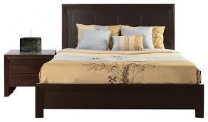 Storage Platform Bed Frame Chocolate by Modus Element 2 Piece Platform Bedroom Set In Chocolate Brown
