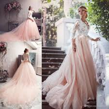 unique wedding dress discount blush pink unique wedding dresses sleeve 2016