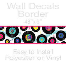 game room ideas rec room decor and game room decor items at vinyl records music decorative wall decal border