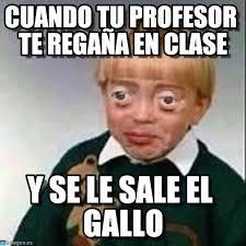Risa Meme - cuando tu profesor te regaña en clase niño risa meme on memegen
