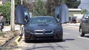 Bmw I8 Blacked Out - black bmw i8 in the street youtube