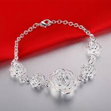 fine jewelry charm bracelet images Newest aaa women wedding 925 silver bracelet bangle pure silver jpg