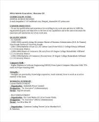 Hr Administrator Resume Sample by Executive Resume Examples 26 Free Word Pdf Documents Download