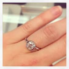 bezel set engagement ring gold bezel set engagement ring here comes the