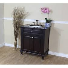 Bellaterra Home DMBG Single Sink Bathroom Vanity Black - Bella 48 inch bathroom vanity white
